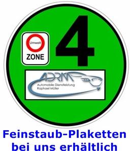 Feinstaubplaketten in Bergisch Gladbach Bensberg